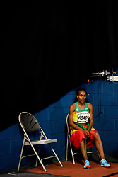 March 1, 2018 - Birmingham, GREAT BRITAIN - 180301 Genzebe Dibaba of Ethiopia after winning the womenÂ«s 3000 m during day one of the IAAF World Indoor Championships on March 1, 2018 in Birmingham..Photo: Jon Olav Nesvold / BILDBYRN / kod JE / 160205 (Credit Image: © Jon Olav Nesvold/Bildbyran via ZUMA Press)