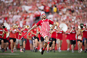 The University of Wisconsin-Madison alumni marching band performs before an NCAA college football game between Wisconsin and against Eastern Michigan Saturday, Sept. 11, 2021, in Madison, Wis. (AP Photo/Andy Manis)