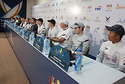 Press conference after qualifying sesion 1 at  Monsoon Cup 2010. World Match Racing Tour, Kuala Terengganu, Malaysia. 1 December 2010. Photo: Subzero Images/WMRT