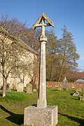 Churchyard with graves village church of Saint Michael Tunstall, Suffolk, England, UK