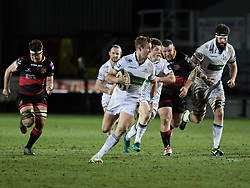 Glasgow Warriors' Brandon Thomson breaks<br /> <br /> Photographer Simon King/Replay Images<br /> <br /> Guinness PRO14 Round 14 - Dragons v Glasgow Warriors - Friday 9th February 2018 - Rodney Parade - Newport<br /> <br /> World Copyright © Replay Images . All rights reserved. info@replayimages.co.uk - http://replayimages.co.uk