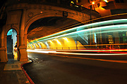 500px Photo ID: 4411093 - long exposure of muni going through the stockton tunnel, san francisco, ca