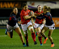Cerys Hale of Wales Women<br /> <br /> Photographer Simon King/Replay Images<br /> <br /> Friendly - Wales Women v Hong Kong Women - Friday  16th November 2018 - Cardiff Arms Park - Cardiff<br /> <br /> World Copyright © Replay Images . All rights reserved. info@replayimages.co.uk - http://replayimages.co.uk