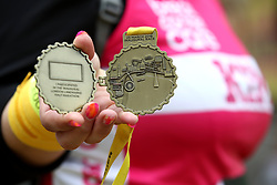 A general view of a finishers medal for the 2018 London Landmarks Half Marathon. PRESS ASSOCIATION Photo. Picture date: Sunday March 25, 2018. Photo credit should read: John Walton/PA Wire