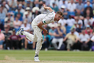 Oliver Hannon-Dalby of Warwickshire during the Specsavers County Champ Div 1 match between Yorkshire County Cricket Club and Warwickshire County Cricket Club at York Cricket Club, York, United Kingdom on 18 June 2019.