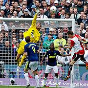 NLD/Rotterdam/20100919 - Voetbalwedstrijd Feyenoord - Ajax 2010, redding van keeper Maarten Stekelenburg na een schot van Stefan de Vrij