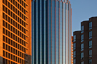 Detail architectural image of downtown office buildings in Boston