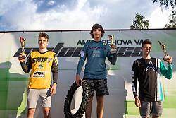 Winners of MX 125 during Slovenian Championship in Motocross, on June 2nd, 2019 in Orehova Vas, Slovenia. Photo by Blaž Weindorfer / Sportida