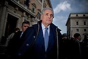 Roberto Formigoni in Piazza Montecitorio. Rome, 11 december 2013. Christian Mantuano / OneShot