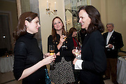 VIOLET FRASER; LADY BELLA SOMERSET; BETTINA VON HASE, Book launch of Lady Annabel Goldsmith's third book, No Invitation Required. Claridges's. London. 11 November 2009