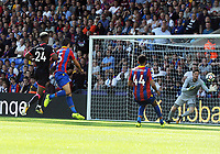 Football - 2017 / 2018 Premier League - Crystal Palace vs. Huddersfield Town<br /> <br /> Hudderfield's Steve Mounie scoring the 3th goal  at Selhurst Park.<br /> <br /> COLORSPORT/ANDREW COWIE