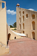Observation deck of The Giant Sundial, Samrat Yantra, The Supreme Instrument, at The Observatory in Jaipur, Rajasthan, India