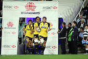 Andrew Hore leads out the Hurricanes. NSW Waratahs v Hurricanes. 2010 Super 14 Rugby Union round 14 match played at the Sydney Football Stadium, Moore Park Australia. Friday 14 May 2010. Photo: Clay Cross/PHOTOSPORT