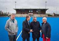 ZWOLLE - Wim Brugts, Olaf ten Thij, Gerwout Hovenberg en Henk Oomens. HC Zwolle, Fusieclub (ZMHC en Tempo'41 fuseren naar Hockeyclub Zwolle) in 2012. COPYRIGHT KOEN SUYK