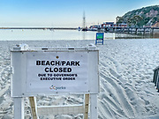 Baby Beach and Park Closed Due to Governor's Executive Order Signage