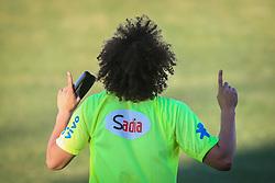 David Luiz durante o treino de Brasil antes da partida contra o Colombia, válida pelas quartas de final da Copa do Mundo 2014, no Estádio Presidente Vargas, em Fortaleza-CE. FOTO: Jefferson Bernardes/ Agência Preview