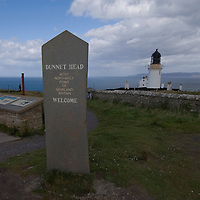 Dunnet point with lighthouse, the most northerly point of UK mainland just few miles from where HRH The Prince Charles Duke of Rothesay and HRH Duchess of Rothesay watch the Mey Games at Mey (Caithness) Scotland Aug 4 2007