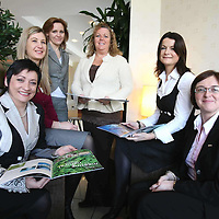 Sinead Clohessy, Specsavers Limerick; Maura McMahon, Limerick Chamber; Rita McInerney, Ennis Chamber; Anne Power, Specsavers Limerick and Ennis; Helen Downes, Shannon Chamber; and Geraldine McCarthy, Radisson SAS Hotel, Limerick gather to plan the regional Chamber networking evening being held on Wednesday, April 8.