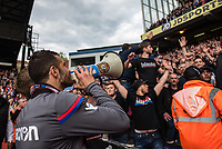 LONDON, ENGLAND - MAY 13: Luka Milivojević (4) of Crystal Palace with fans during the Premier League match between Crystal Palace and West Bromwich Albion at Selhurst Park on May 13, 2018 in London, England. MB Media
