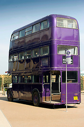 © Licensed to London News Pictures 27/02/2011 London, UK. .The triple decker Night Bus inside The Warner Brothers Studio Tour, Leavesden, Herts where all 8 Harry Potter movies were made and opens to the public this week..Photo credit : Simon Jacobs/LNP