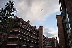 © Licensed to London News Pictures . 08/08/2011 . London , UK . A helicopter in the sky above the Pembury Estate in Hackney during a 3rd night of rioting and looting in London , which followed a protest against the police shooting of Mark Duggan in Tottenham . Photo credit : Joel Goodman/LNP