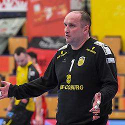 Coburgs Kulhanek, Jan  beim Spiel in der Handball Bundesliga, Die Eulen Ludwigshafen - HSC 2000 Coburg.<br /> <br /> Foto © PIX-Sportfotos *** Foto ist honorarpflichtig! *** Auf Anfrage in hoeherer Qualitaet/Aufloesung. Belegexemplar erbeten. Veroeffentlichung ausschliesslich fuer journalistisch-publizistische Zwecke. For editorial use only.
