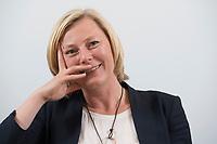 15 MAY 2013, BERLIN/GERMANY:<br /> Prof. Dr. Gesche Joost, Professorin an der Universitaet der Kuenste Berlin, Fachgebiet Designforschung, und Mitglied im Kompetenzteam von SPD Kanzlerkandidat P eer S teinbrueck,<br /> waehrend einem Interview, Willy-Brandt-Haus<br /> IMAGE: 20130515-01-030<br /> KEYWORDS: Wahlkampfteam