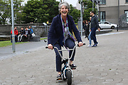 Catherine Connolly TD at the opening of the Galway Bike Festival on Saturday. Photo:-XPOURE.IE / NO FEE