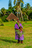 Kanak (Melanesian) girls, Lifou (island), Loyalty Islands, New Caledonia