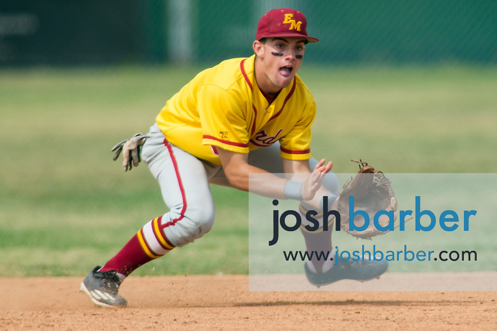 El Modena's Justin Simpson during a Crestview League game at Foothill High School on Friday, May 5, 2017 in North Tustin, Calif. Foothill won 4-2. (Photo by Josh Barber, Contributing Photographer)