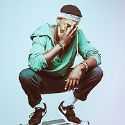 2018 portrait of Luxembourg rapper Yadson