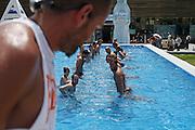 Italy, Florence, Fortezza da Basso, Fitfestival, aquabike lesson