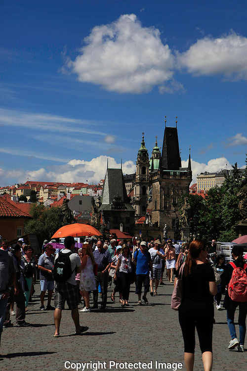 The Charles Bridge over the  Vltava river in Prague.Photo by Dennis Brack