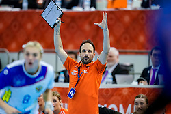 13-12-2019 JAP: Semi Final Netherlands - Russia, Kumamoto<br /> The Netherlands beat Russia in the semifinals 33-22 and qualify for the final on Sunday in Park Dome at 24th IHF Women's Handball World Championship / Bondscoach Emmanuel Mayonnade of Netherlands