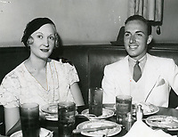 1932 Hollywood socialite, Catherine Toberman, dines with Lloyd Pantages at the Brown Derby