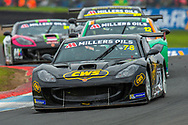 Colin White (GBR) of CWS 4x4 Spares exits the chicane, closely followed by Reece Somerfield (GBR) Privateer during Round 16 of the 2019 Millers Oils Ginetta GT4 Supercup at Knockhill Racing Circuit, Dunfermline, Scotland on 15 September 2019.