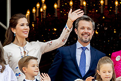Crown Prince Frederik, Crown Princess Mary, Prince Vincent and Princess Josephine celebrate 50th birthday of Crown Prince Frederik at the royal palace in Copenhagen, Denmark, on May 26, 2018. Photo by Robin Utrecht/ABACAPRESS.COM