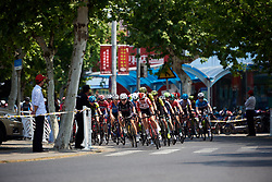 Demi de Jong (NED) leads the peloton at Tour of Chongming Island 2019 - Stage 1, a 102.7 km road race on Chongming Island, China on May 9, 2019. Photo by Sean Robinson/velofocus.com