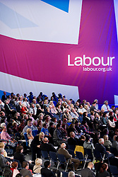 © Licensed to London News Pictures. 30/09/2012. Manchester, UK . Crowd in the conference hall . Labour Party Conference Day 1 at Manchester Central . Photo credit : Joel Goodman/LNP
