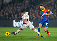Football - 2018 / 2019 Premier League - Crystal Palace vs. Manchester United<br /> <br /> The hard working Alexis Sanchez (Manchester United) attempts at full stretch to cut ot the pass from James McArthur (Crystal Palace) at Selhurst Park.<br /> <br /> COLORSPORT/DANIEL BEARHAM