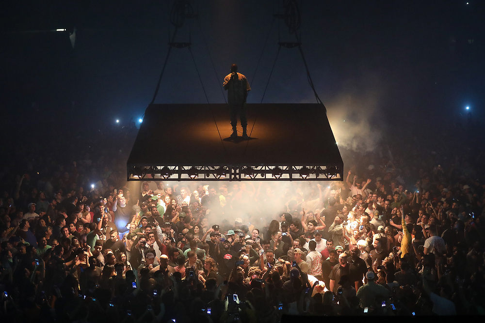 September 22, 2016: Kanye West performs at the American Airlines Center in Dallas, TX for his Saint Pablo Tour