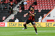 Cameron Carter-Vickers (18) of AFC Bournemouth heads the ball during the EFL Sky Bet Championship match between Bournemouth and Stoke City at the Vitality Stadium, Bournemouth, England on 8 May 2021.