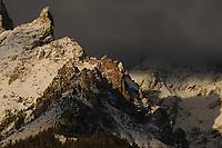 Teewinot Mountain at sunrise in Grand Teton National Park