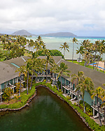 The Kahala Resort and Hotel, located in Honolulu on the souths side of Diamond Head, offers luxurious accommodations and is the only hotel in Oahu with a dolphin program.  Pictured here are the dolphin Lanai Rooms.