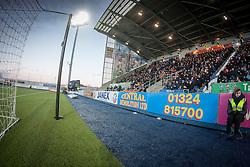 South stand, second half. Falkirk 1 v 1 Ayr United, Scottish Championship game played 14/1/2017at The Falkirk Stadium .