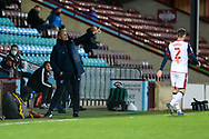 Scunthorpe United manager Neil Cox pointing, directing, signalling, gesture during the EFL Sky Bet League 2 match between Scunthorpe United and Bolton Wanderers at the Sands Venue Stadium, Scunthorpe, England on 24 November 2020.