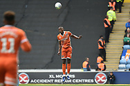Shrewsbury Town defender Omar Beckles (6) heads the ball during the EFL Sky Bet League 1 match between Coventry City and Shrewsbury Town at the Ricoh Arena, Coventry, England on 28 April 2019.
