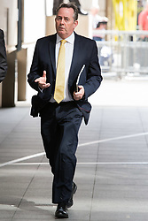 © Licensed to London News Pictures. 26/05/2019. London, UK. LIAM FOX MP is seen arriving at BBC Broadcasting Houses in London. A number of Conservative MPs have entered the race to be the new leader of the party. Photo credit: George Cracknell Wright/LNP