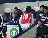Arsenal's Arsene Wenger looks on as Nacho Monreal goes off injured<br /> <br /> Barclays Premier League- West Bromwich Albion vs Arsenal - The Hawthorns - England - 29th November 2014 - Picture David Klein/Sportimage