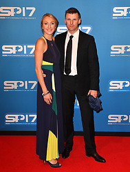 Paula Radcliffe and husband Gary Lough during the red carpet arrivals for BBC Sports Personality of the Year 2017 at the Liverpool Echo Arena.